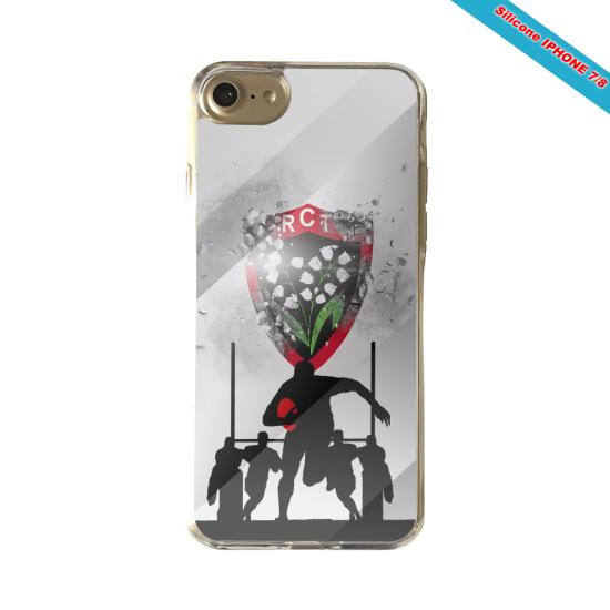 Coque silicone Galaxy M31 Fan de Rugby Bordeaux Géometrics