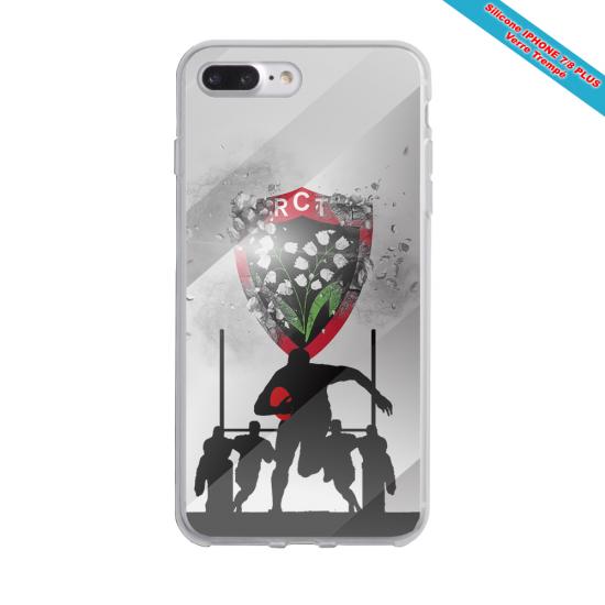 Coque Silicone Galaxy S6 EDGE Fan de Rugby Bordeaux Géometrics