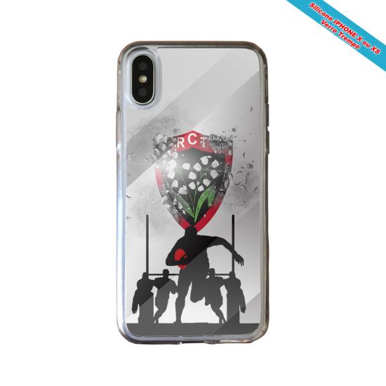 Coque Silicone Galaxy S7 EDGE Fan de Rugby Bordeaux Géometrics