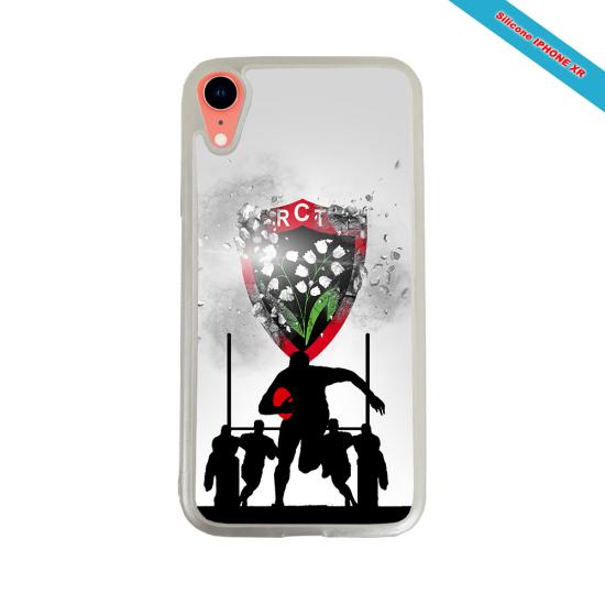 Coque Silicone Galaxy S8 Fan de Rugby Bordeaux Géometrics
