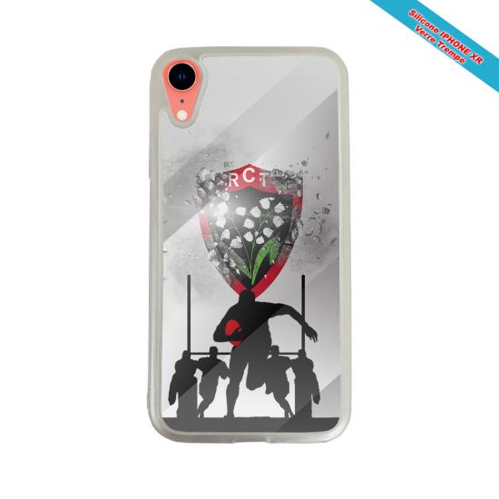 Coque Silicone Galaxy S8 PLUS Fan de Rugby Bordeaux Géometrics