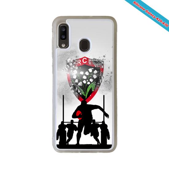 Coque silicone Galaxy S21 Fan de Rugby Bordeaux Géometrics