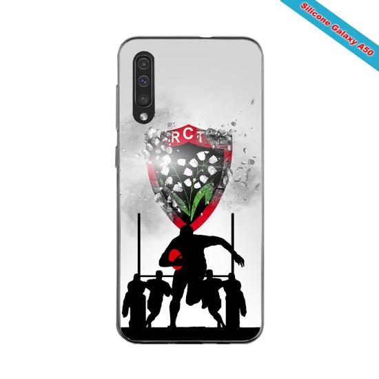 Coque silicone Huawei Mate 10 PRO Fan de Rugby Bordeaux Géometrics