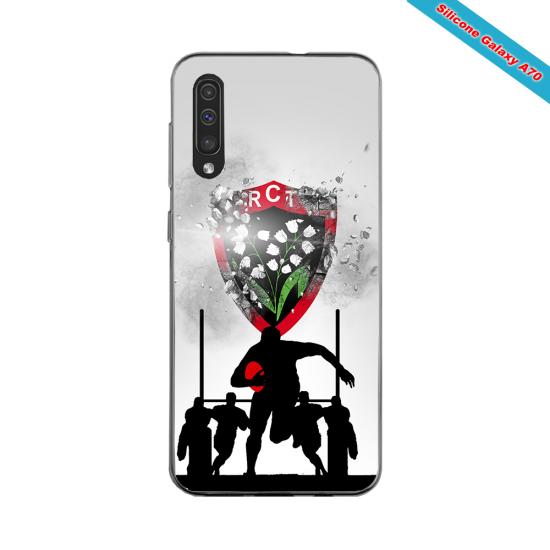Coque silicone Huawei Mate 20 LITE Fan de Rugby Bordeaux Géometrics