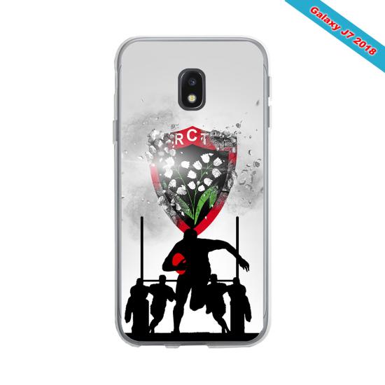 Coque silicone Huawei P20 LITE 2019 Fan de Rugby Bordeaux Géometrics