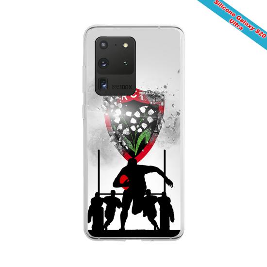 Coque silicone Iphone 11 Pro Max Fan de Rugby Brive Géometrics