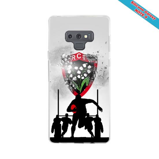 Coque silicone Iphone 12 PRO Fan de Rugby Brive Géometrics