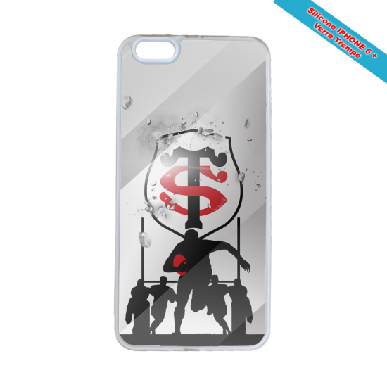 Coque Silicone Galaxy S6 EDGE Fan de Rugby Brive Géometrics