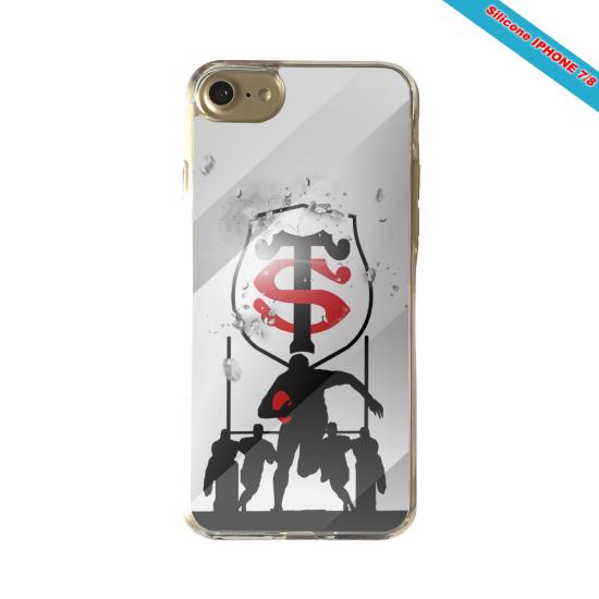 Coque Silicone Galaxy S7 EDGE Fan de Rugby Brive Géometrics