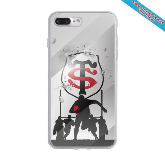 Coque Silicone Galaxy S8 PLUS Fan de Rugby Brive Géometrics
