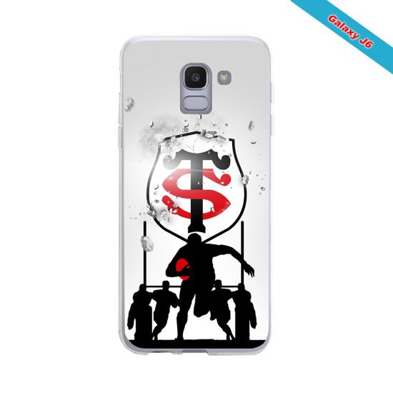 Coque silicone Huawei P20 LITE 2019 Fan de Rugby Brive Géometrics