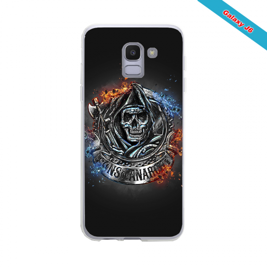 Coque silicone Iphone XS MAX Fan de Rugby Clermont Géometrics