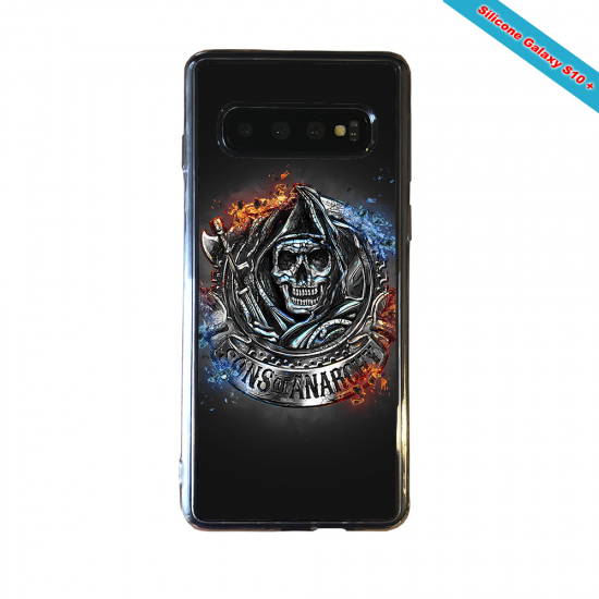 Coque silicone Galaxy A50 Fan de Rugby Clermont Géometrics