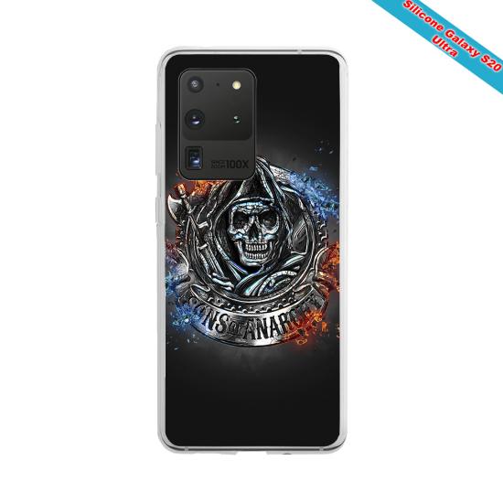 Coque silicone Galaxy J3 2018 Fan de Rugby Clermont Géometrics