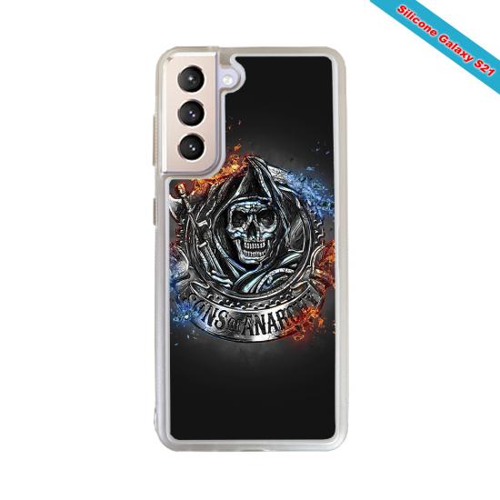 Coque silicone Galaxy J4 2018 Fan de Rugby Clermont Géometrics