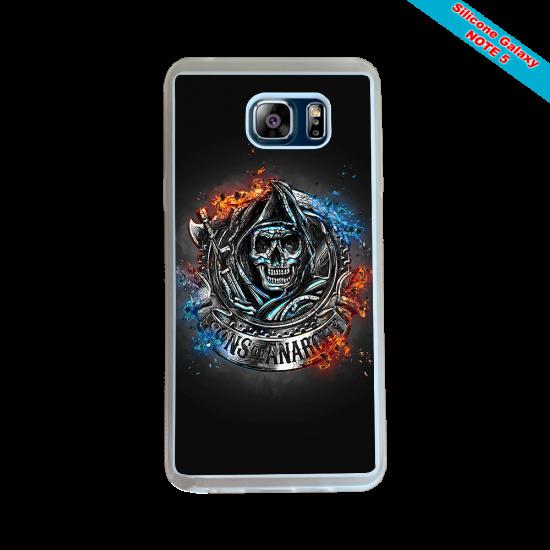 Coque silicone Galaxy J5 2016 Fan de Rugby Clermont Géometrics