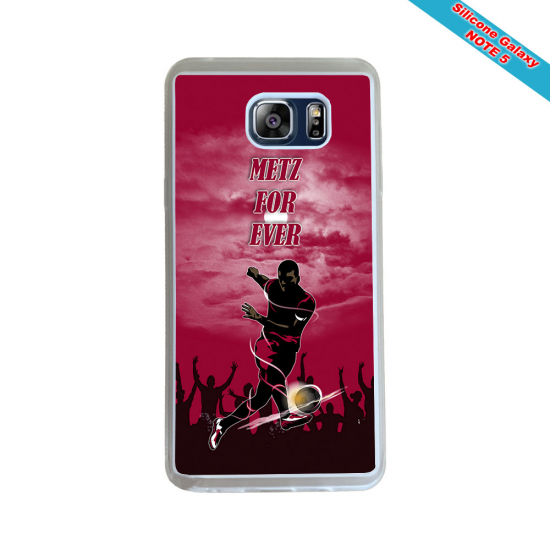 Coque silicone Galaxy A20E Fan de Rugby Montpellier Géometrics