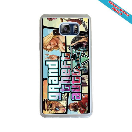 Coque silicone Galaxy J3 2016 Fan de Rugby Montpellier Géometrics