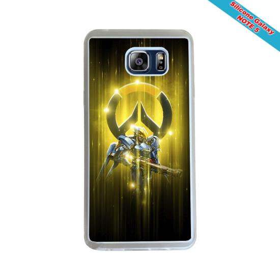 Coque silicone Iphone 6 PLUS Verre Trempé Fan de Rugby Racing 92 Géometrics