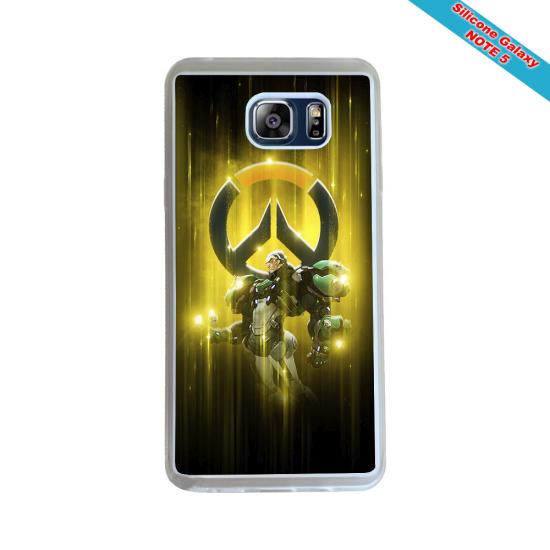 Coque Silicone iphone 7/8 verre trempé Fan de Rugby Racing 92 Géometrics