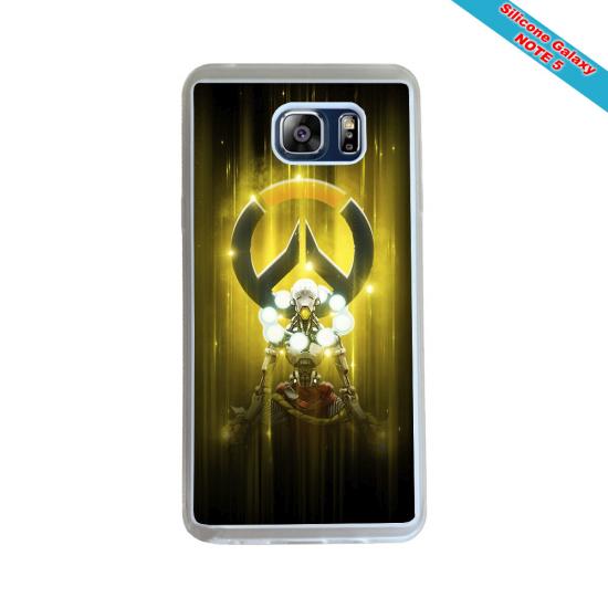 Coque silicone Iphone XS MAX Verre Trempé Fan de Rugby Racing 92 Géometrics
