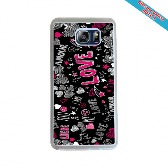 Coque silicone Iphone 11 Pro Fan de Rugby Racing 92 Géometrics