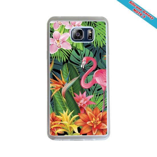 Coque silicone Iphone 12 Mini Fan de Rugby Racing 92 Géometrics