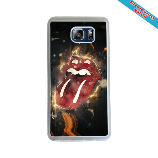 Coque silicone Galaxy A10 Fan de Rugby Racing 92 Géometrics