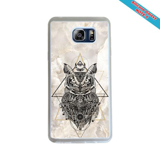 Coque silicone Galaxy A21S Fan de Rugby Racing 92 Géometrics