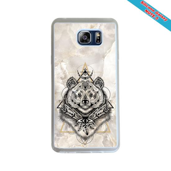 Coque silicone Galaxy A50 Fan de Rugby Racing 92 Géometrics
