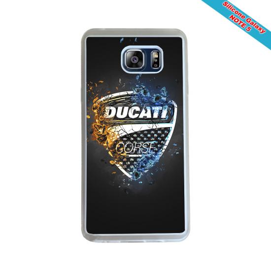 Coque silicone Galaxy A71 Fan de Rugby Racing 92 Géometrics