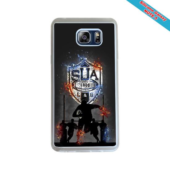 Coque silicone Galaxy J3 2016 Fan de Rugby Racing 92 Géometrics