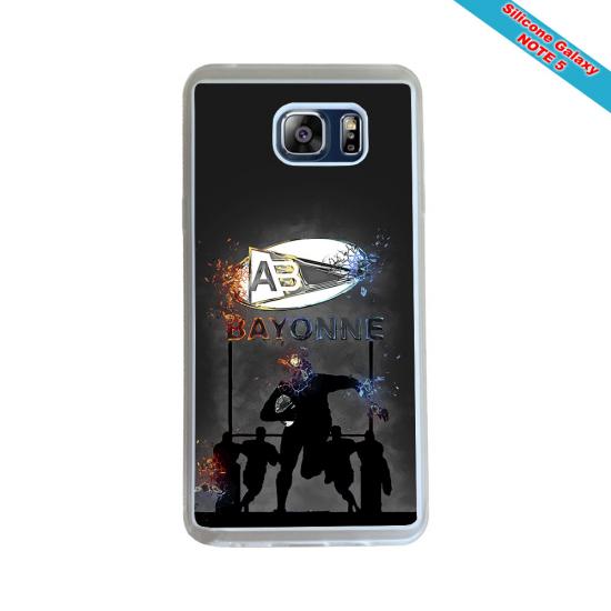 Coque silicone Galaxy J3 2017 Fan de Rugby Racing 92 Géometrics
