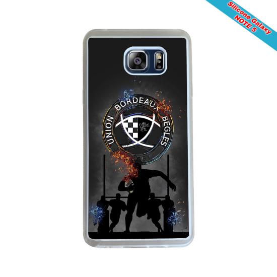 Coque silicone Galaxy J3 2018 Fan de Rugby Racing 92 Géometrics