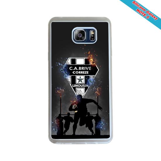 Coque silicone Galaxy J4 2018 Fan de Rugby Racing 92 Géometrics