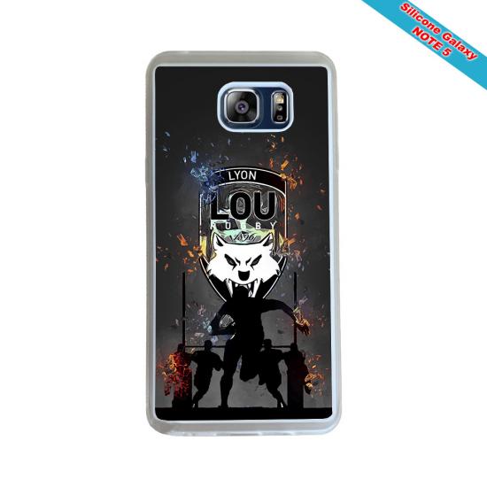 Coque silicone Galaxy J5 2016 Fan de Rugby Racing 92 Géometrics