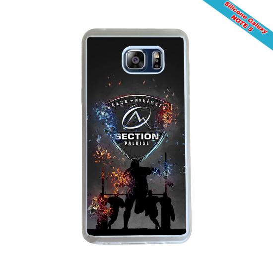 Coque silicone Galaxy J6 PLUS Fan de Rugby Racing 92 Géometrics
