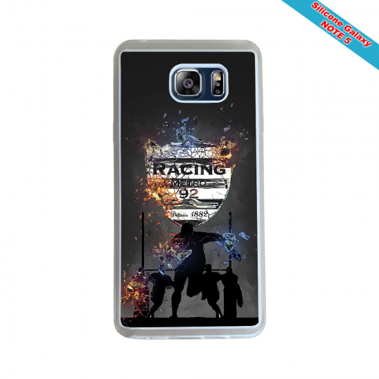Coque silicone Galaxy J7 2016 Fan de Rugby Racing 92 Géometrics