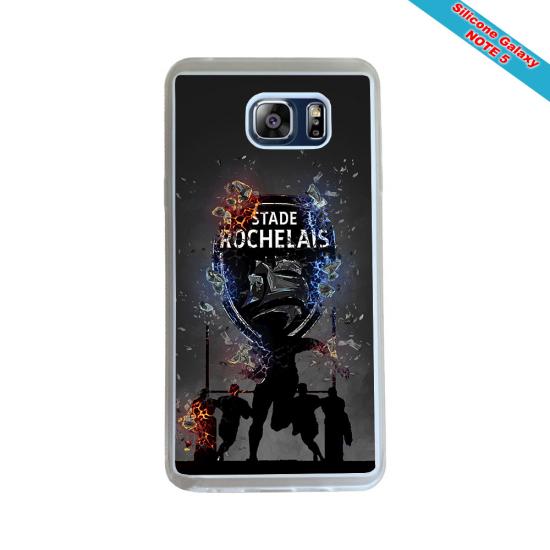 Coque silicone Galaxy J7 2017 Fan de Rugby Racing 92 Géometrics