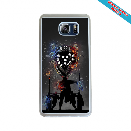 Coque silicone Galaxy J7 2018 Fan de Rugby Racing 92 Géometrics