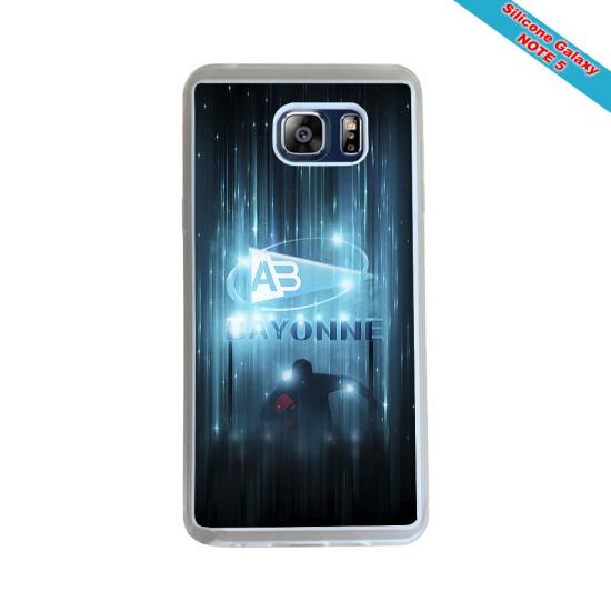 Coque silicone Galaxy M11 Fan de Rugby Racing 92 Géometrics