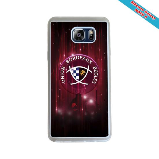 Coque silicone Galaxy M20 Fan de Rugby Racing 92 Géometrics