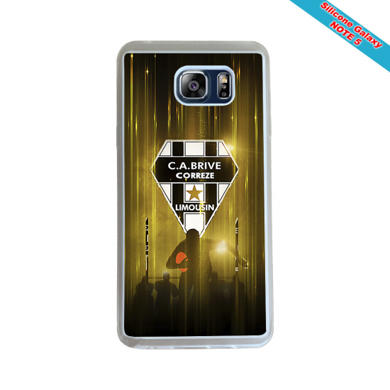 Coque silicone Galaxy M31 Fan de Rugby Racing 92 Géometrics