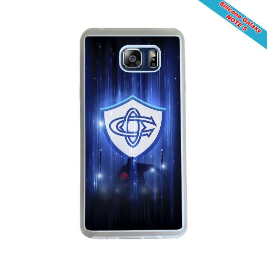Coque Silicone Galaxy S6 Fan de Rugby Racing 92 Géometrics