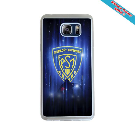 Coque Silicone Galaxy S6 EDGE Fan de Rugby Racing 92 Géometrics