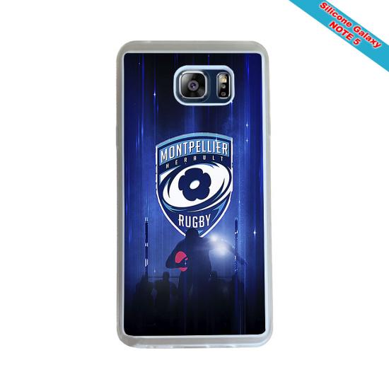 Coque Silicone Galaxy S7 EDGE Fan de Rugby Racing 92 Géometrics