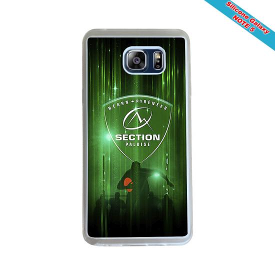 Coque Silicone Galaxy S8 PLUS Fan de Rugby Racing 92 Géometrics