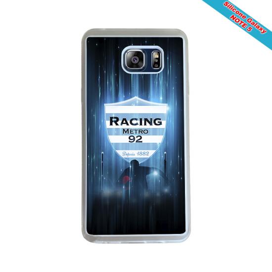 Coque Silicone Galaxy S9 Fan de Rugby Racing 92 Géometrics