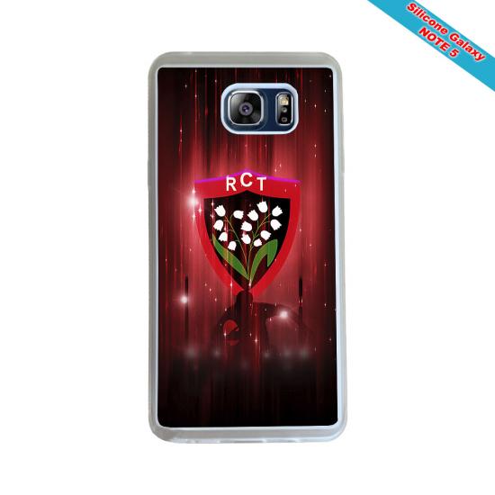 Coque Silicone Galaxy S9 PLUS Fan de Rugby Racing 92 Géometrics