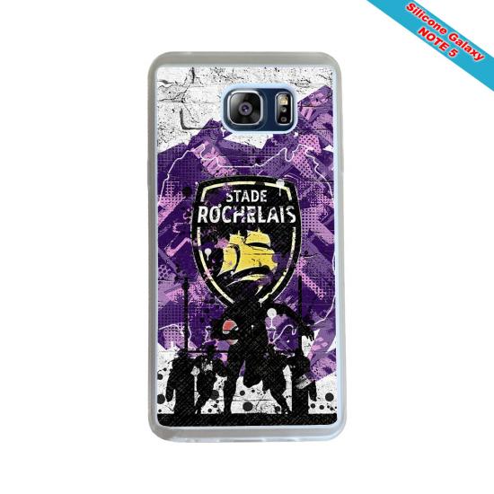 Coque silicone Galaxy S21 Fan de Rugby Racing 92 Géometrics
